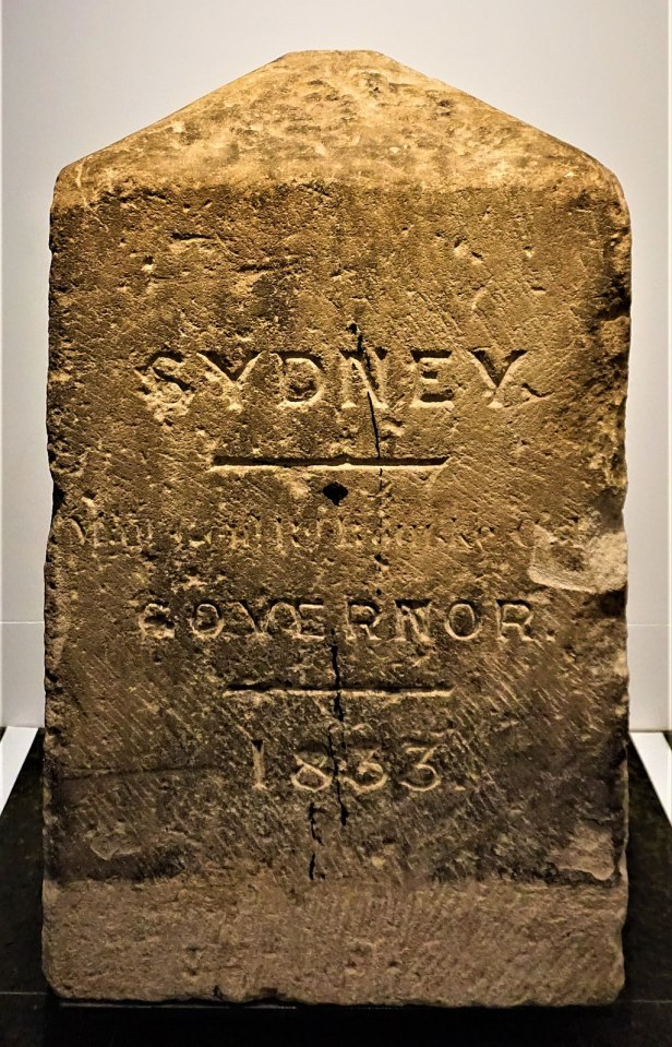 Sydney Boundary Stone 1833 - Joy of Museum