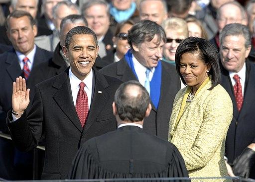 US President Barack Obama taking his Oath of Office - 2009Jan20