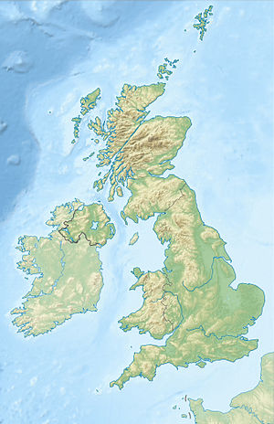 Map of the UK with location of Mary's places of imprisonment