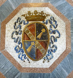 English: Coat of arms of House of Torlonia, Vi...