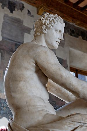 "So-called ""Ludovisi Ares"". Pentelic marble, Ro..."