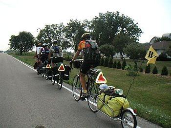 English: Bicycle touring