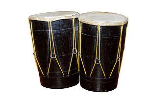 A pair of bongos - percussion instrument Deuts...