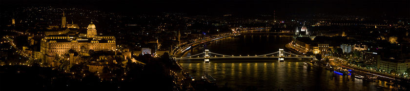 Panorama of Budapest from Gellert Hill, photo by Christian Mehlführer