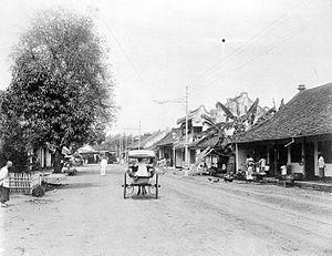 Nederlands: Repronegatief. Batavia, Pasar Tana...