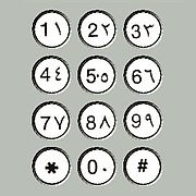 "An Arab telephone keypad with both the Western ""Arabic numerals"" and the Arabic ""Arabic-Indic numerals"" variants."