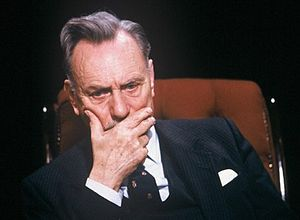 English: Enoch Powell appearing on television ...