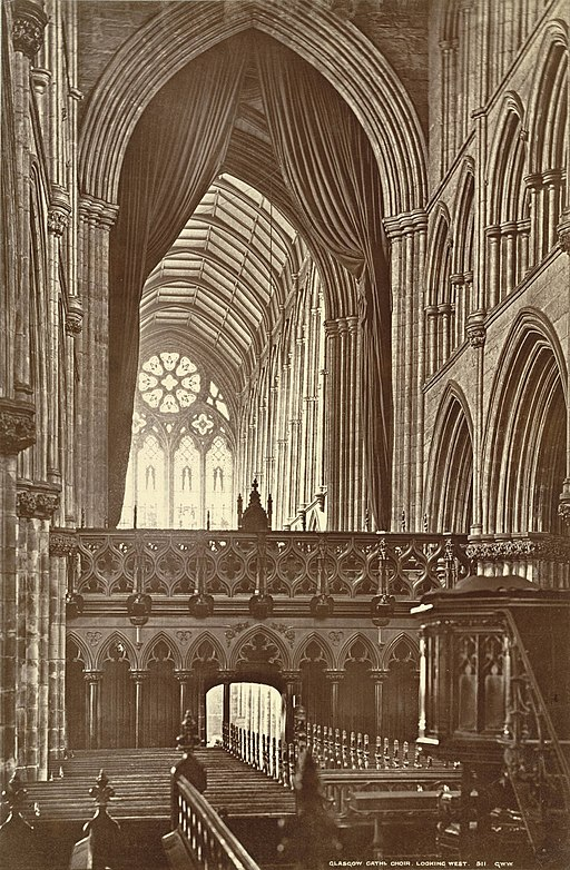 Glasgow Cathedral. Choir, looking West (Interior) (3611637698)