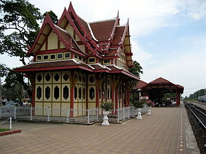 The railway station in Hua Hin, Thailand, is r...
