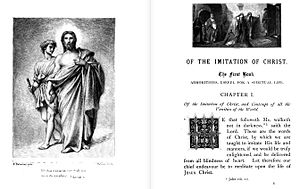 English: The First chapter of The Imitation of...