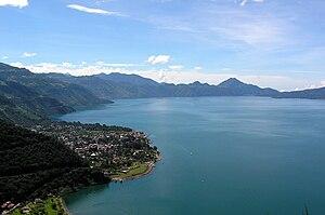 Panajachel, Guatemala, and Lago de Atitlán fro...