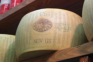 English: Parmigiano-Reggiano, also known as Pa...