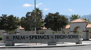 English: Palm Springs High School