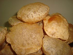 A puri or poori is an Indian unleavened bread....
