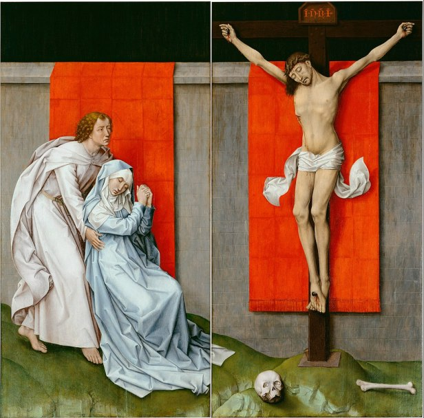 Rogier van der Weyden, Netherlandish (active Tournai and Brussels) - The Crucifixion, with the Virgin and Saint John the Evangelist Mourning - Google Art Project