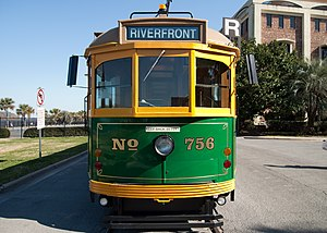 English: Car 756 of the River Street Streetcar...