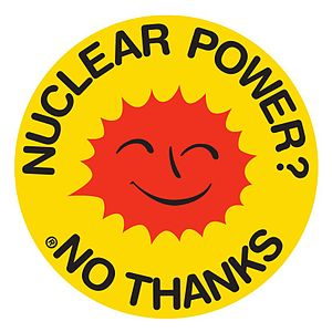 Anti nuclear power movement's Smiling Sun logo...