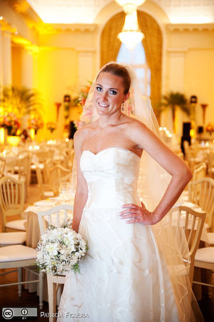 Wedding dress by Carolina Herrera. Photo from ...