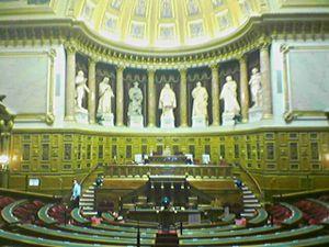 French Senate amphitheater.