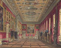 Grabado del interior del palacio por W.H. Pyne (1819)..