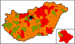 Election Results, Hungary 2002 ██ = Fidesz ██ ...