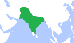 Map of the Mughal Empire.