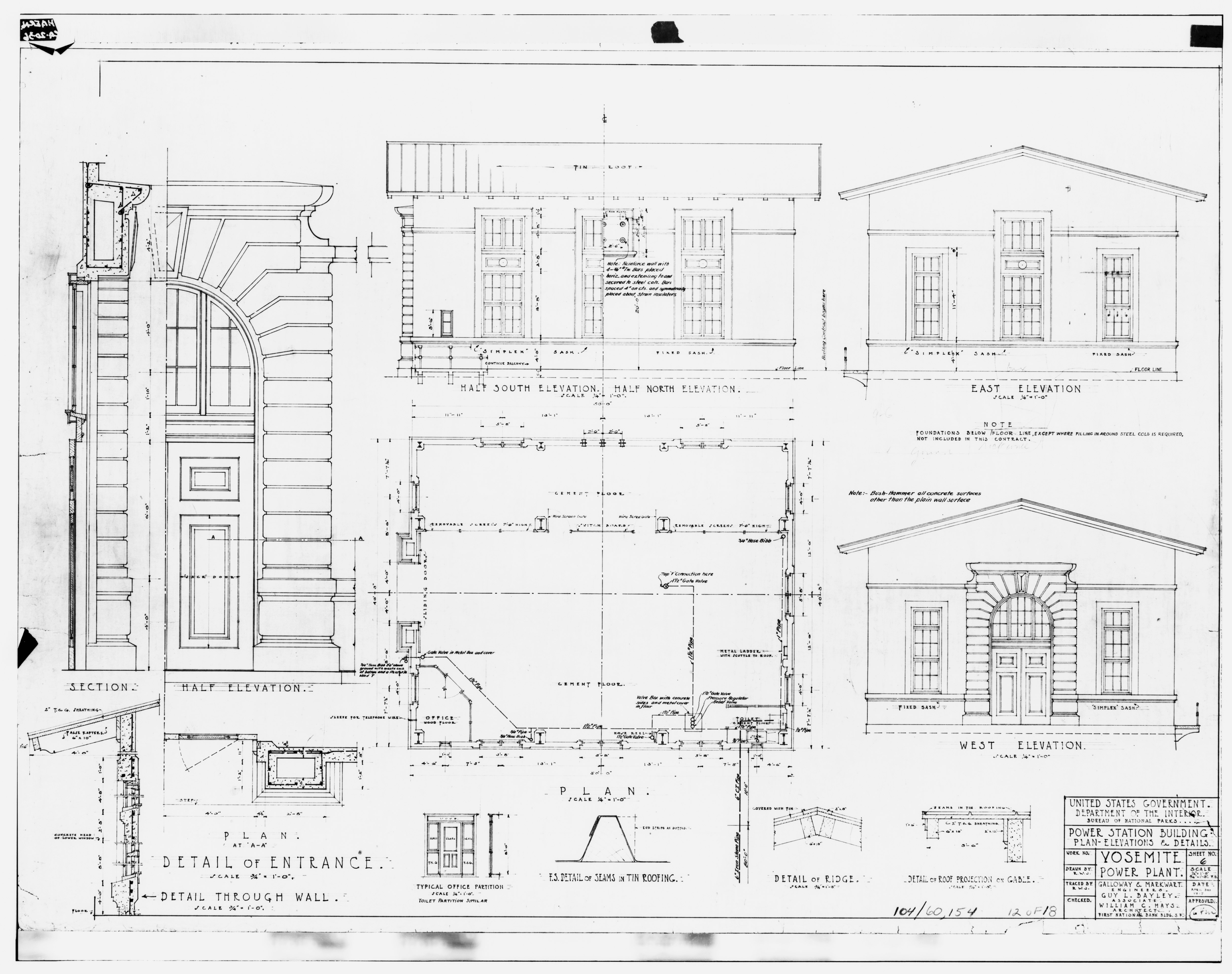 File Photocopy Of Microfiched Construction Drawing By