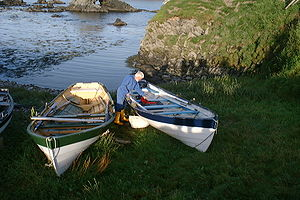 Fishing boats in Shetland, Scotland