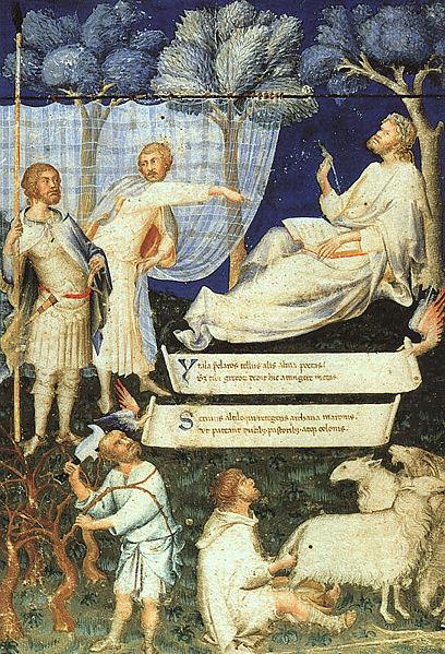 Simone Martini - frontespizio per codice Virgilio - Biblioteca Ambrosiana - Milano