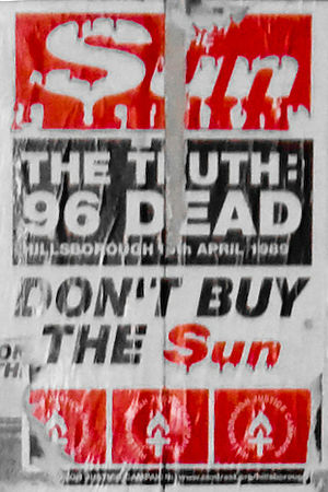 """Poster against """"The Sun"""" newspaper i..."""