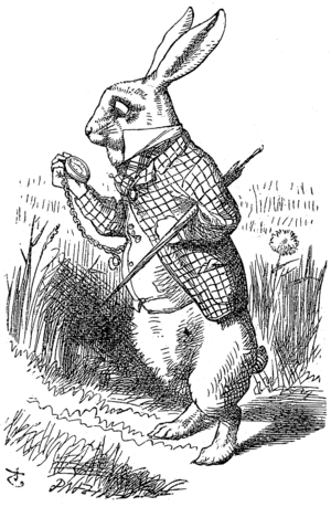 The White Rabbit in a hurry