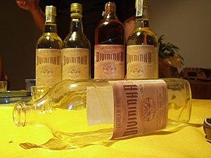 Bottles of Cachaça.