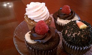 English: cupcakes from cake in a cup