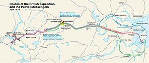 This is a map depiction the outbound routes ta...