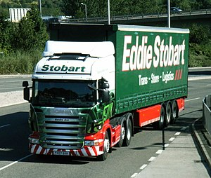 Eddie Stobart lorry. The Stobart Group are the...
