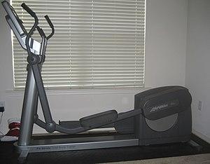 Commercial elliptical trainer (rear drive version)
