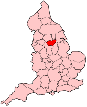 Map of South Yorkshire police district