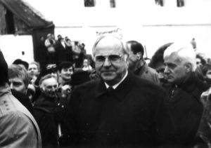 Helmut Kohl in Krzyżowa (Kreisau), Poland, 1989.