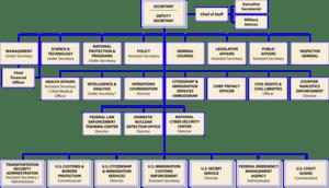Organizational chart of the United States Depa...