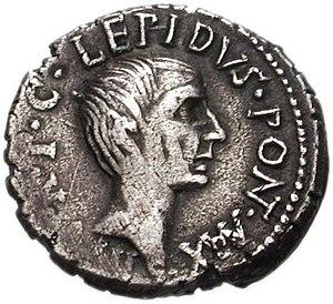 Lepidus and Octavian. 42 BC. AR Denarius (17mm...