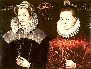 Mary Stuart, Queen Maria I. of Scotland, and h...