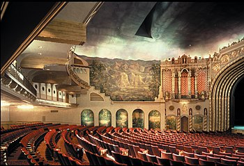English: The restored interior of Orpheum Thea...