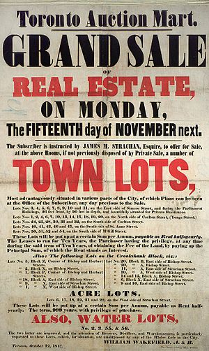A poster from 1847, promoting the sale of land...