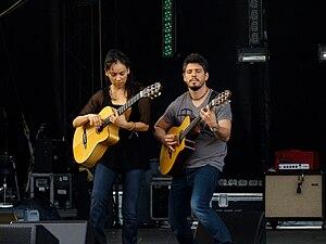 Rodrigo y Gabriela performing at Sasquatch 2011