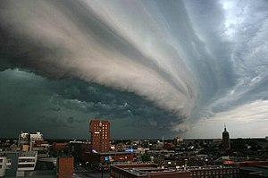 Rolling thunderstorm (Cumulonimbus arcus) Fran...
