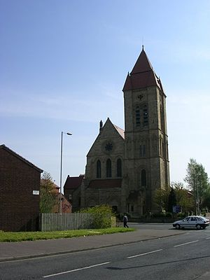 English: St John's, Cheetham Hill Situated on ...