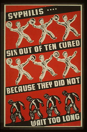 Depression-era poster urging syphilis treatment