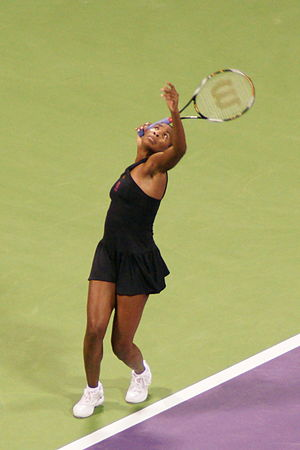 Venus Williams at the 2008 WTA Tour Championships