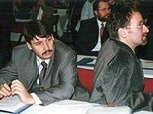 János Áder and József Szájer in 2000