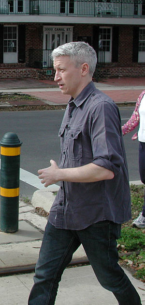 Anderson Cooper marching on January 11, 2007 i...